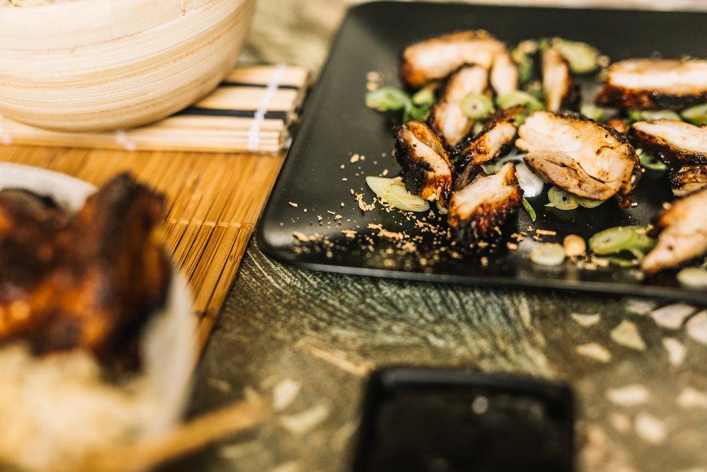 Wok, Hoisin BBQ -Kippendij met vel & Rijst18.jpg