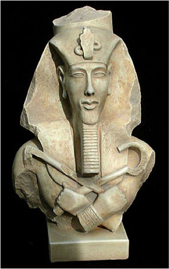 Pharaoh Akhenaten (c. 1353 to 1335 BCE) at the Egyptian Museum in Cairo, Egypt– Photo: Pinterest