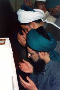Muslims at prayer at the Interfaith Chapel in the Presidio of San Francisco