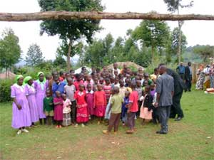 School uniforms are distributed to 52 orphans in Kisii.