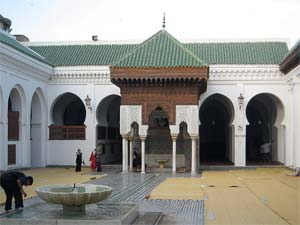 The mosque at the heart of the University of Al-Qarawiyyin today.