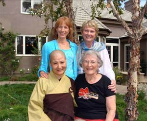 Clockwise from top left, Kay Lindahl, Kathe Schaaf, Kathleen Hurty, and Guo Cheen