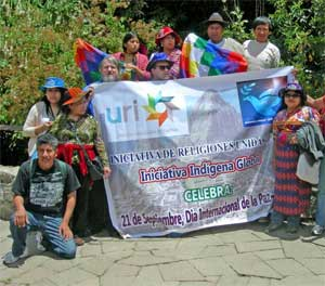 Part of the group of indigenous leaders brought together by United Religions Initiative in Peru.
