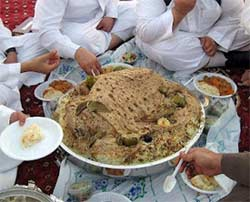 Having abundant food available whenever strangers visit is an ancient Middle Eastern tradition. Photo: Arab Resources