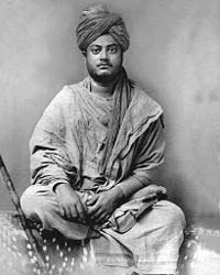 In his early twenties, after his spiritual mentor died and a monastic order established, Swamiji spent three years walking across India. This photograph was taken in Jaipur.