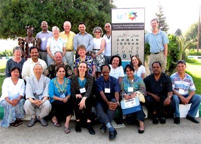 URI's global staff had a planning session last year in Amman, Jordan.