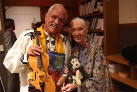 Patrick McCollum and Jane Goodall – Photo: RBS