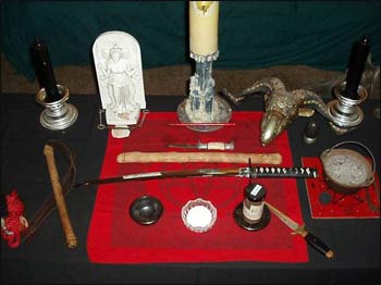 Sacred objects used in Neopagan ceremonies.