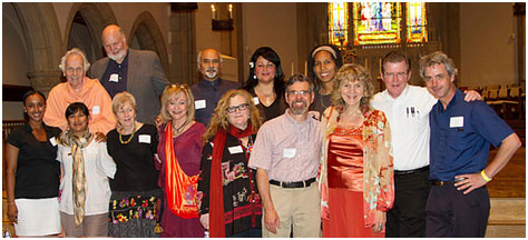 Ruth Broyde Sharone (third from right), is pictured with the leadership of the Southern California Committee for a Parliament of the World's Religions, a group she helped found in 2007, and which she co-chairs.
