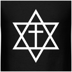 Like Jews for Jesus, Messianic Judaism is a fundamentalist tradition which synthesizes aspects of Jewish culture and Christian theology. – Photo: Spreadshirt.com