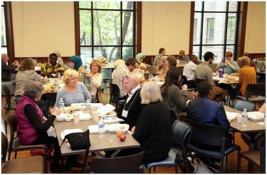 Lunch break at Our Muslim Neighbor conference – Photo: FCC