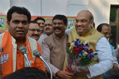 Bharatiya Janata Party officials celebrating after 2014 elections – Photo: bjp.org