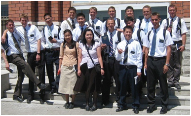 Mormon missionaries in Mongolia – Photo: Communities Digital News