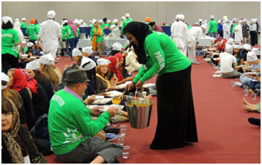 The Sikh community provided langar each day for more than 5,000 interfaith activists. – Photo: JO