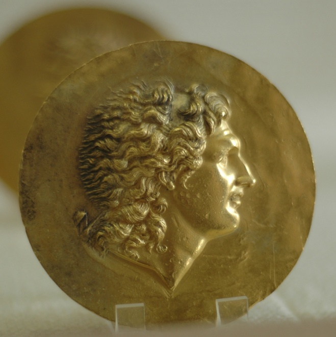 A victory medallion with the image of Alexander the Great, minted around the second century CE. – Photo: Wikimedia, Marie-Lan Nguyen