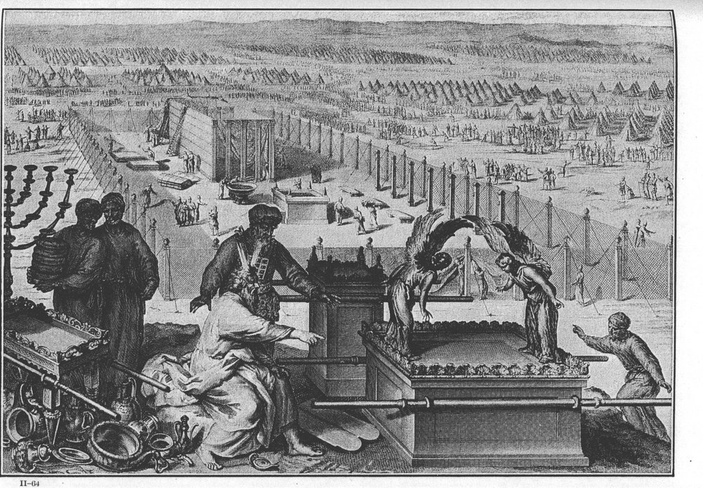 An illustration of assembling the Tabernacle and Sacred Vessels in Figures de la Bible, published in France in 1727 – Photo: Wikipedia