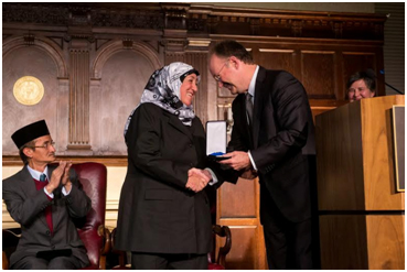 The $1 million Opus award being given to Sakena Yacoobi, the executive director of the Afghan Institute of Learning, an Afghan women-led NGO she founded in 1995. – Photo: Berkeley Center