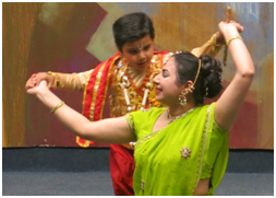 Canadian Indian dancers told the story of young Krishna during an evening of multicultural performances.