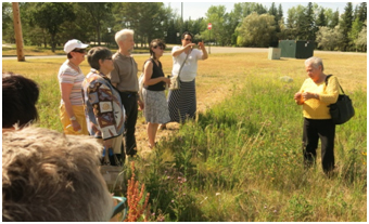 Elder Betty McKenna described and explained Aboriginal medicinal plants in a tour of the First Nations University gardens.