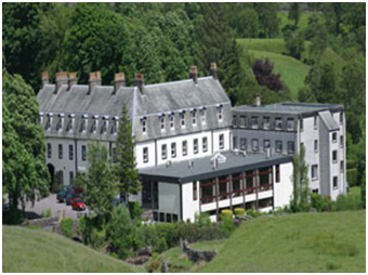 "The Shap Wells Hotel in Cumbria, England, where an historic conference titled ""Comparative Religion in Education"" took place in 1969. – Photo: Shap Working Party on World Religions in Education."