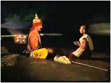 Nachiketa learning from Yama, the God of death, in the ancient Upanishad story. – Photo: You Tube