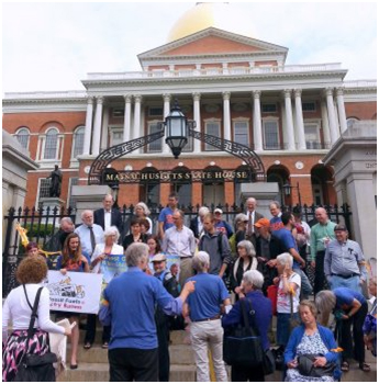 InsideClimate covers news otherwise ignored, like this action last month in Massachusetts about fossilfuel divestment. – Photo: InsideClimate News, Zahra Hirji