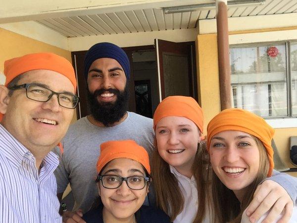 Visiting a Sikh gurdwara – Photo: New Vision Partners