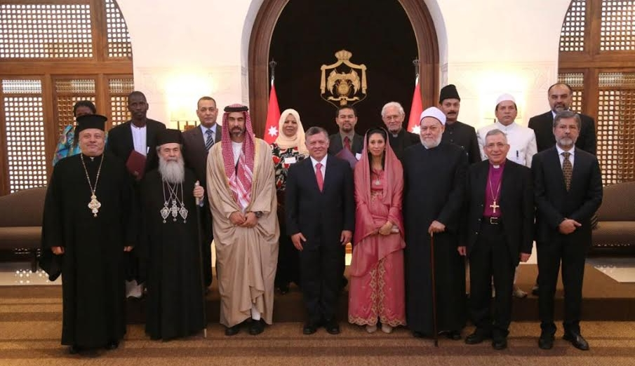 His Majesty King Abdullah II with award winners following the 2014 World Interfaith Harmony Prize. Buyondo Micheal is second from the left in the top row.