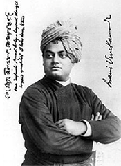 Swami Vivekananda in a photo taken in Chicago in 1893 – Photo: Wikipedia