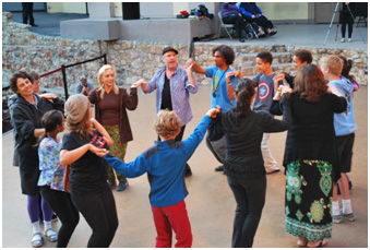 Yiddish dancing had a role in BeArtNow – Photo:  psr.edu