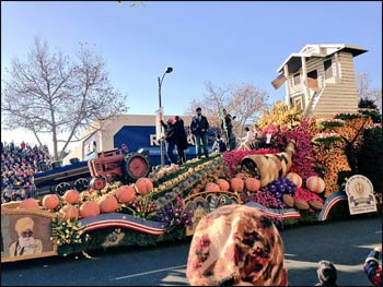 The Sikh float at this year's Rose Bowl Parade. Photo: Zen Vuona, Twitter @zenReport