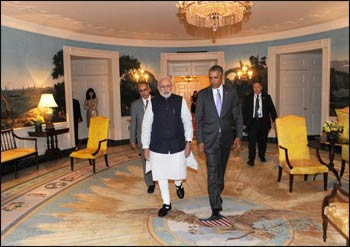 Prime Minister Modi visits President Obnama at the White House. – Photo: Twitter
