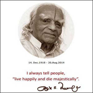 B.K.S. Iyengar – Photo: Facebook/Yoga Alliance