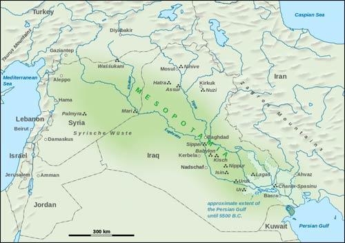 A map of Mesopotamia – Photo: Wikipedia