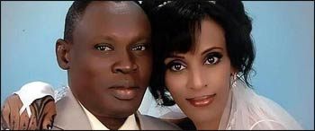 Meriam Ibrahim, condemned to death for her faith, with her husband, Daniel Wani – Photo: Harartubes.com