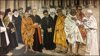 A painting in the Vatican's interreligious offices
