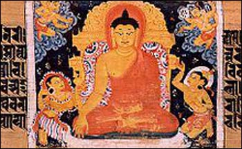 The Buddha surrounded by demons. (India) – Photo: Wikipedia