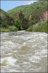 The River Jordan in better times – Photo: Wikipedia