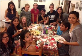 Baha'i' Community Kids baked 520 cookies for the homeless shelter during the Games