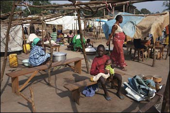 Displaced civilians find shelter in a Catholic camp in CAR. – Photo: Catholic Herald UK