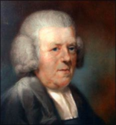 John Newton, painted by John Russell, hangs at the Church Mission Society in Oxford.