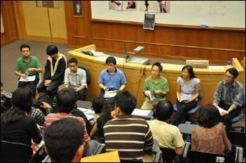 Dialogue between the Varsity Christian Fellowship and the Muslim Society at the National University of Singapore – Photo: NUS Muslim Society