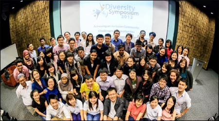Participants in the NUS Diversity Symposium last February – Photo: NUS
