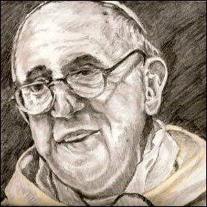 This pencil drawing of Pope Francis was drawn by Kathryn Kirk of Chamblee, Georgia, who submitted it to Religion News Service's artistic competition focused on the new pope.