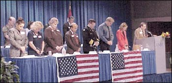 Vern Barnet gave the invocation and benediction at an interfaith observance convened by Congresswoman Karen McCarthy at the University of Missouri, Kansas City, eight days after September 11, 2001.