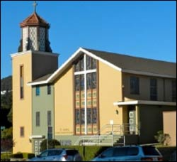 St. John's UCC in San Francisco, where community prayer accompanies worship each week.