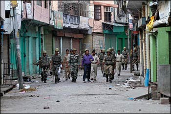 A military curfew was called following the communal violence in Muzaffarnagar. Photo: Rajeesh Kumar Singh/AP