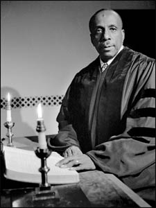 Pioneering interfaith voice, Howard Thurman, after his appointment as Dean of Marsh Chapel at Boston University – Photo: BU Photography