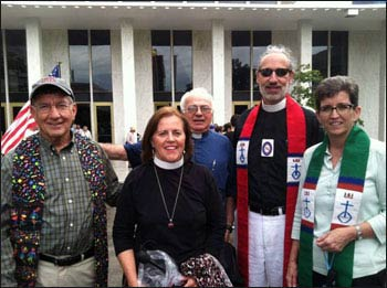 UCC ministers outside North Carolina's statehouse. – Photo: UCC