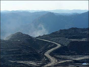 Mountaintop removal mining site Photo: Wikipedia